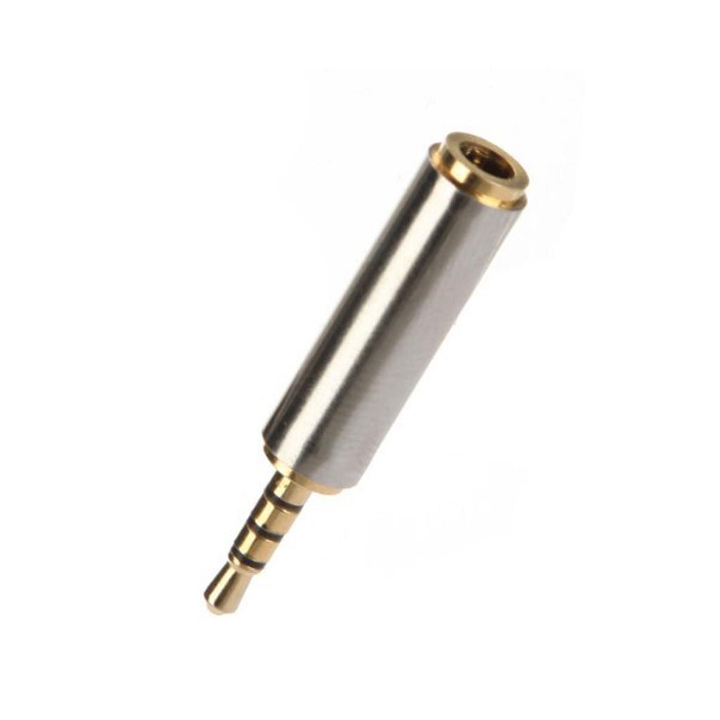 Novo adaptador de fone de ouvido 2.5mm macho para 3.5mm conector fêmea conversor de áudio jack soquete aux estéreo metal cheio fone de ouvido para iphone