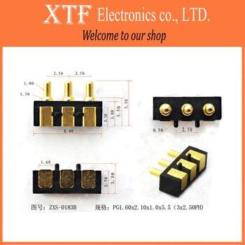 10PCS/Lot 3PIN Tangda pogo pin connector Charging pin Mobile phone battery Spring probe Conductive needle Thimble test