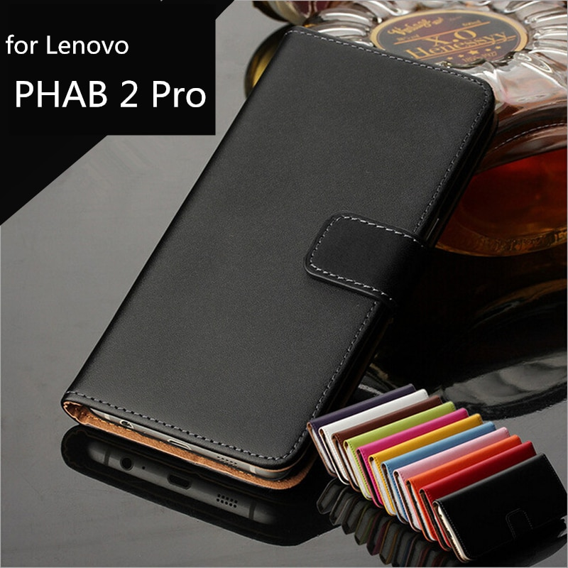 Premium Pu Leather Flip Cover Wallet case For Lenovo Phab 2 Pro 6.4-inches card holder holster phone shell GG