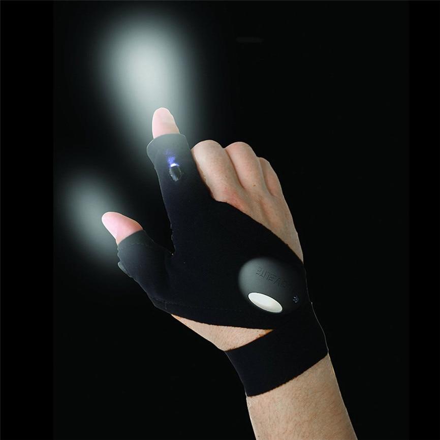 Черный наружный ночной рыболовный волшебный ремешок без Пальцев Перчатка светодиодный фонарь для выживания Кемпинг Туризм Спасательный Инструмент Nov #3