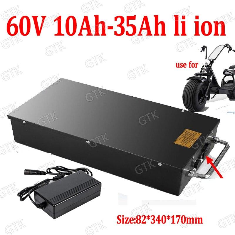 GTK 60V 20Ah 25Ah 30Ah 12Ah 15Ah 18Ah batería de iones de litio BMS ion Litio para X7 X8 X9 X20harley citycoco scooter bicicleta + cargador
