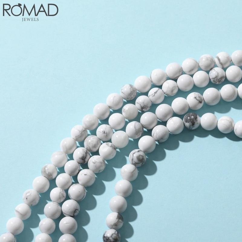 Romad pulseiras de pedra natural, pulseira de pedra natural listrada, miçangas, acessório de joias, colar, diy, bule r5