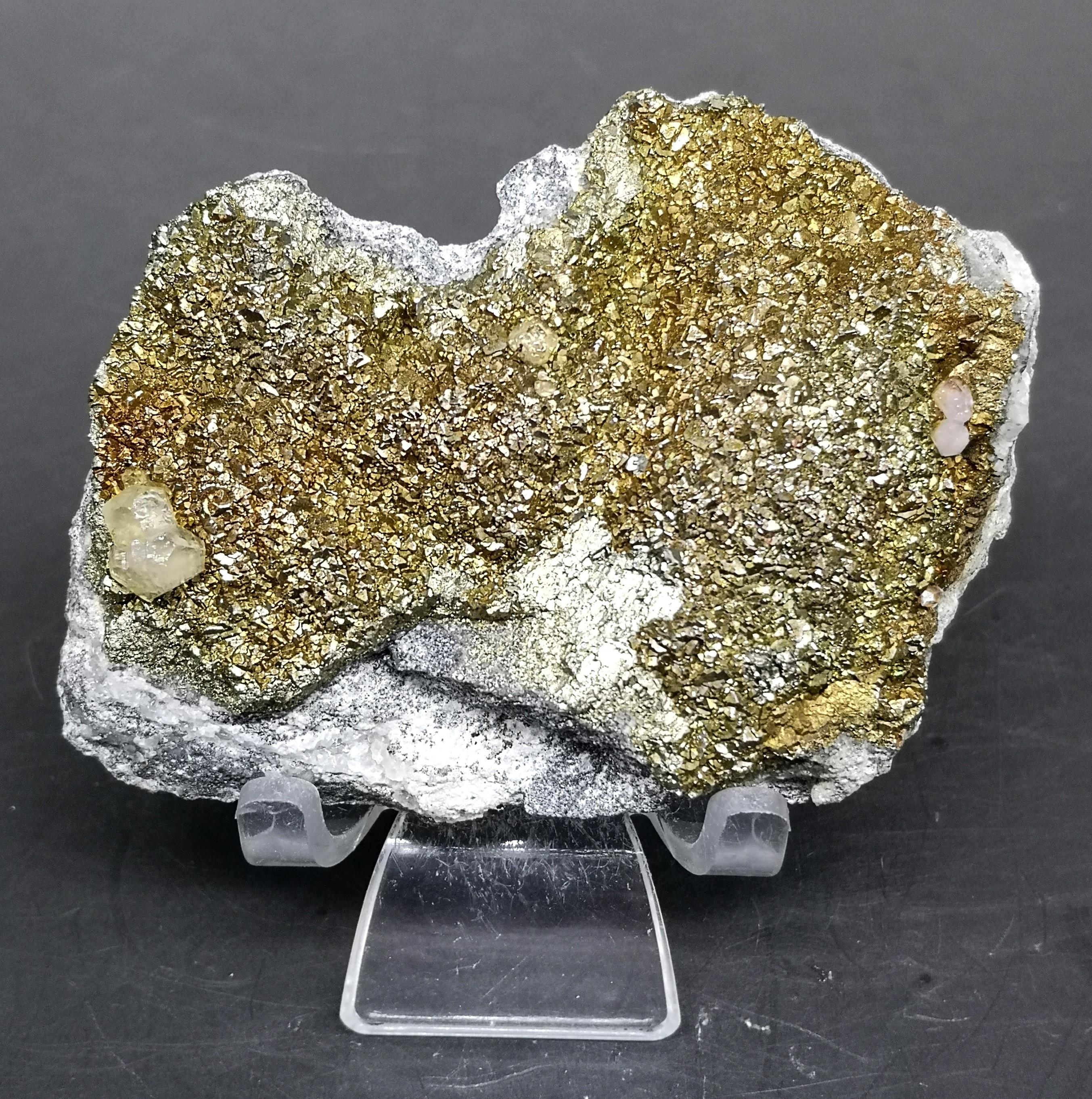 Quartz brut de chine 179g   pyrite et calcite naturels symbiotiques, échantillon de cristaux minéraux pierres et cristaux, quartz brut