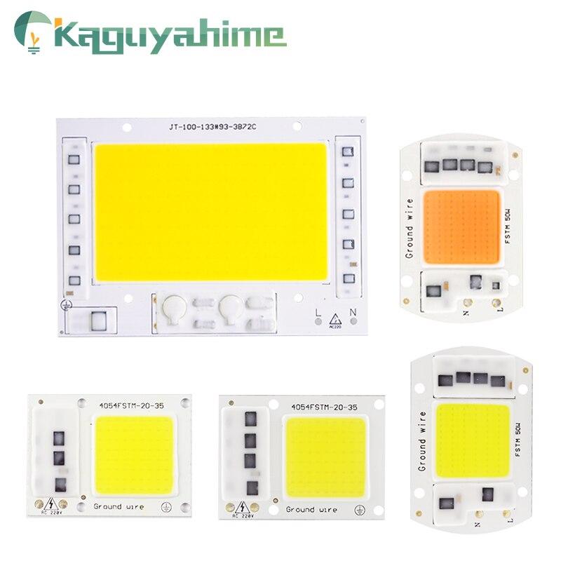 Kaguyahime 10 Uds LED COB Chip 220V 20W 30W 50W Chip integrado de repuesto DIY bombilla de foco sin unidad para reflector de cultivo