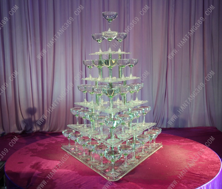 Five tiers champagne tower (excluding cups and light) Banquet champagne tower,Party table wine tower