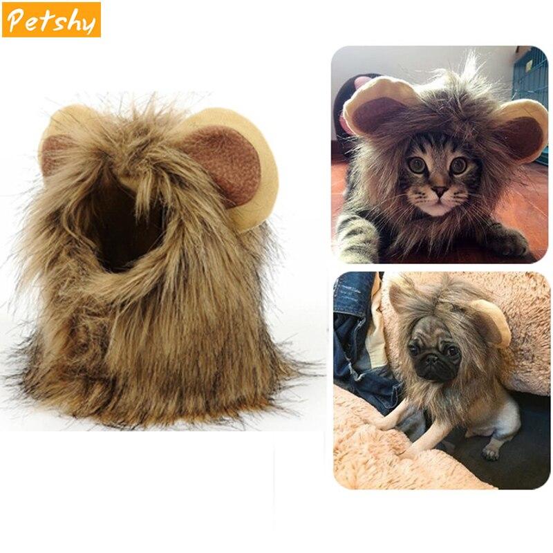 Petshy костюм кота для домашних животных парик для кошек и собак на Хэллоуин, Рождественская вечеринка, нарядный костюм кошки