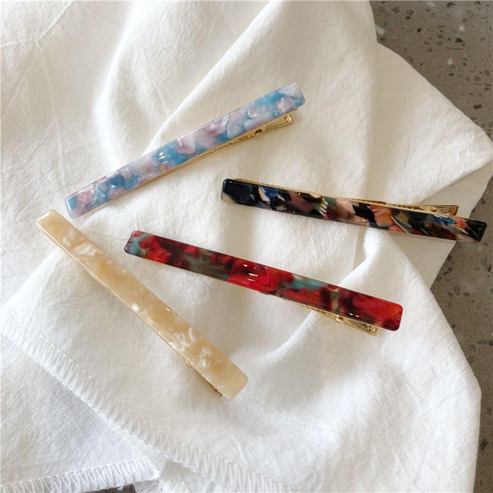 1 PC Fashion Women Girls Acrylic Barrettes Colorful Leopard Hair Pin Clip Acetate Accessories