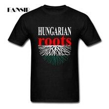 T-Shirt décontracté chemise hommes 100% coton manches courtes hongrois racines hongrie drapeau famille vêtements hauts hommes t-shirts