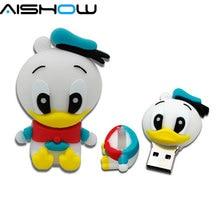 cartoon role Donald Duck USB Flash Drive cartoon Pen drive 8gb 16gb 32gb cool Gift Animal pendrives usb creativo Free shipping