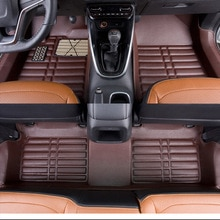 Myfmat tapis de sol en cuir pour LINCOLN MKX   Tapis de sol de voiture à pied personnalisés, livraison gratuite, étanche et bien assorti, confortable et flexible