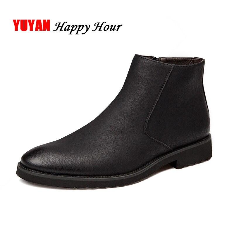 حذاء جلد تشيلسي أسود للرجال ، حذاء على الطراز البريطاني ، A235