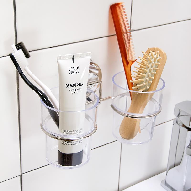 Ventosa cepillo de dientes titular para accesorios de baño de succión de baño establece Dehub marca support brosse a dent