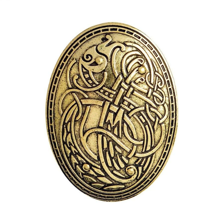 Joyería de moda 2018, Broche vikingo con escudo nórdico de Armadura Medieval, broches de Metal Antiguo para mujer