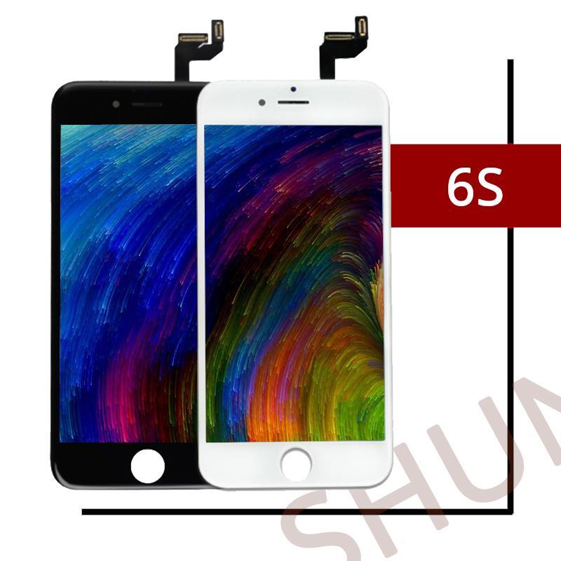 10 Uds de alta calidad para Tianma Ecran para iPhone 6S pantalla LCD con Buena pantalla táctil 3D de prensa en frío montaje de reemplazo gratis DHL
