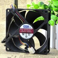 Livraison gratuite pour AVC 12 v DC 0.41a 9 cm 90*90*25mm 9*9 cm ventilateur 4 broches DS09225R12HPFAF