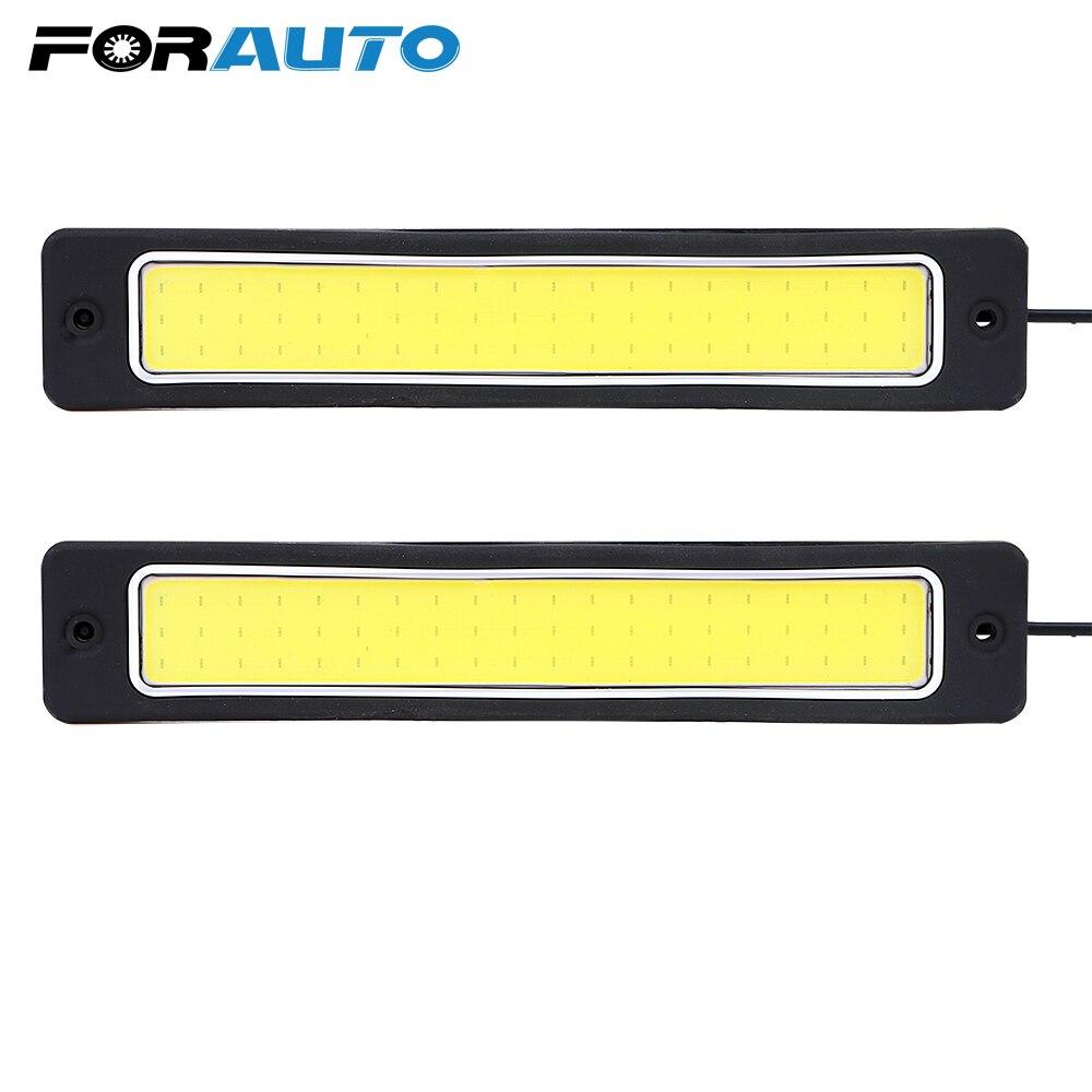 FORAUTO 2pcs Daytime Running Light Bendable Reversing Lamp Fog Lamp LED Car DRL COB Car-styling Driving Lamp Accessories