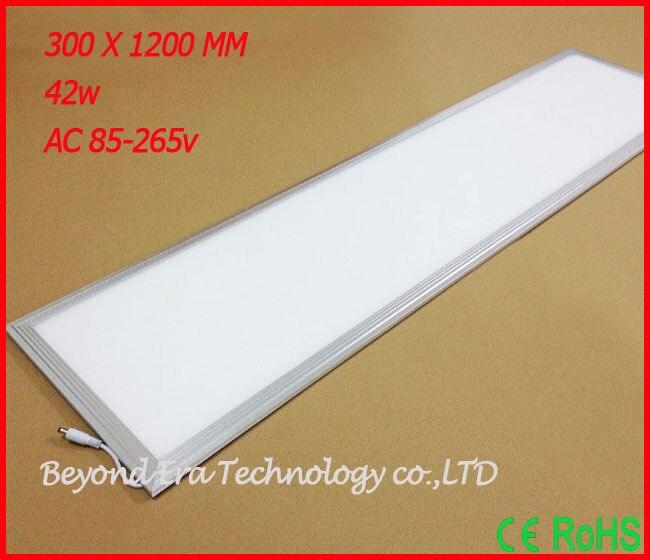 42W LED Panel Ceiling Lamp Light Square LED Ceiling Panel LED Panel Ceiling Light 300x1200MM 2PCS/lot