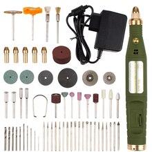 Tipo de energia mini broca elétrica moedor com 80 pçs dril bits acessórios conjunto dremel ferramenta gravar caneta eua ue escultura máquina