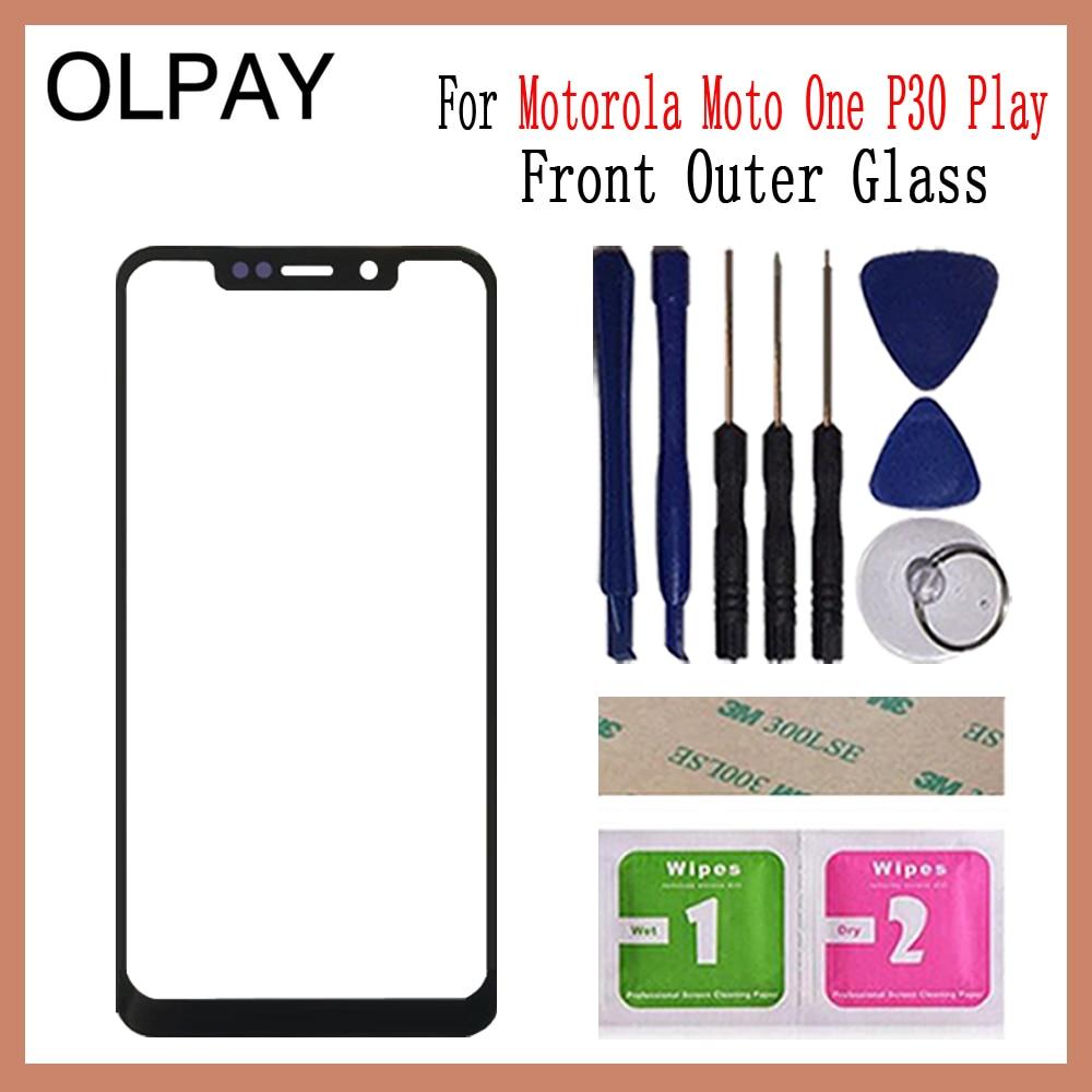 5,9 pulgadas para Motorola Moto One P30 Play XT1941 pantalla LCD exterior de cristal lente de teléfono piezas de repuesto de pantalla táctil de vidrio