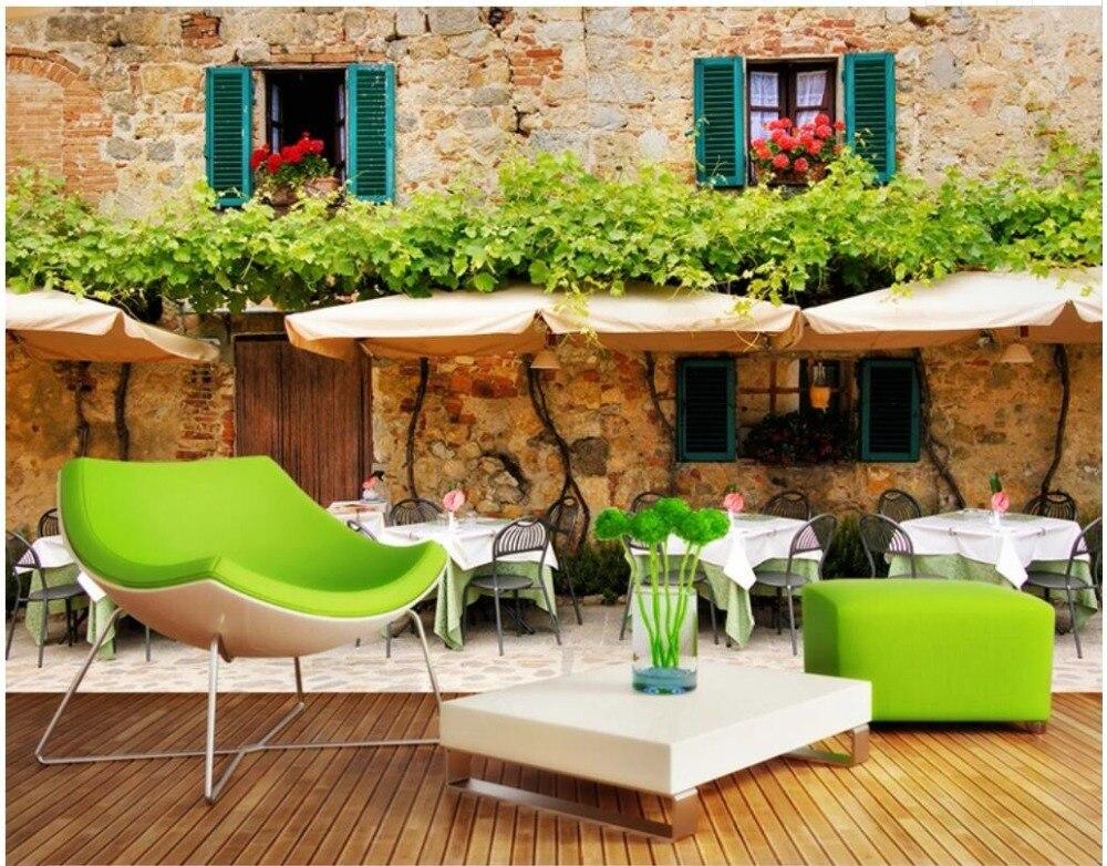 WDBH papel tapiz 3d foto personalizada café té restaurante Hotel paisaje sala de estar decoración del hogar pared 3d murales papel tapiz para paredes 3 d