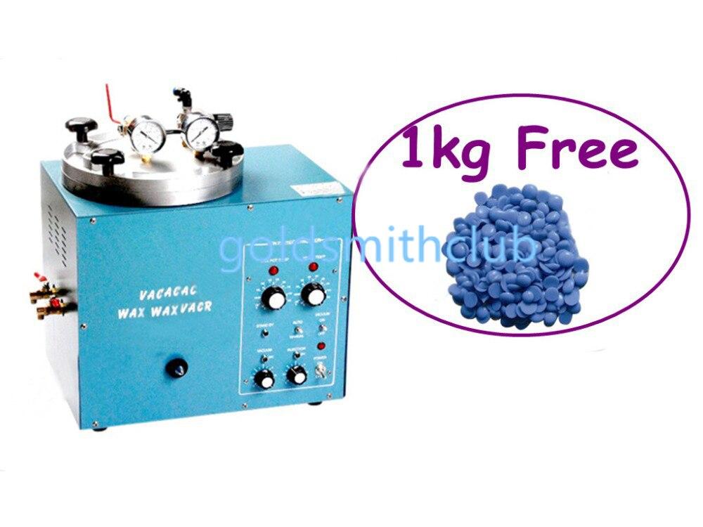 Mini inyector de cera al vacío + (gratis) 1kg de cera, máquina de inyección de cera para joyería, herramientas de joyería BK-0065 Boking, garantía de un año