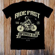 Zomer 2019 100% Katoen Normale Rit Snelle Caferacer Club Rebel T-shirt Business