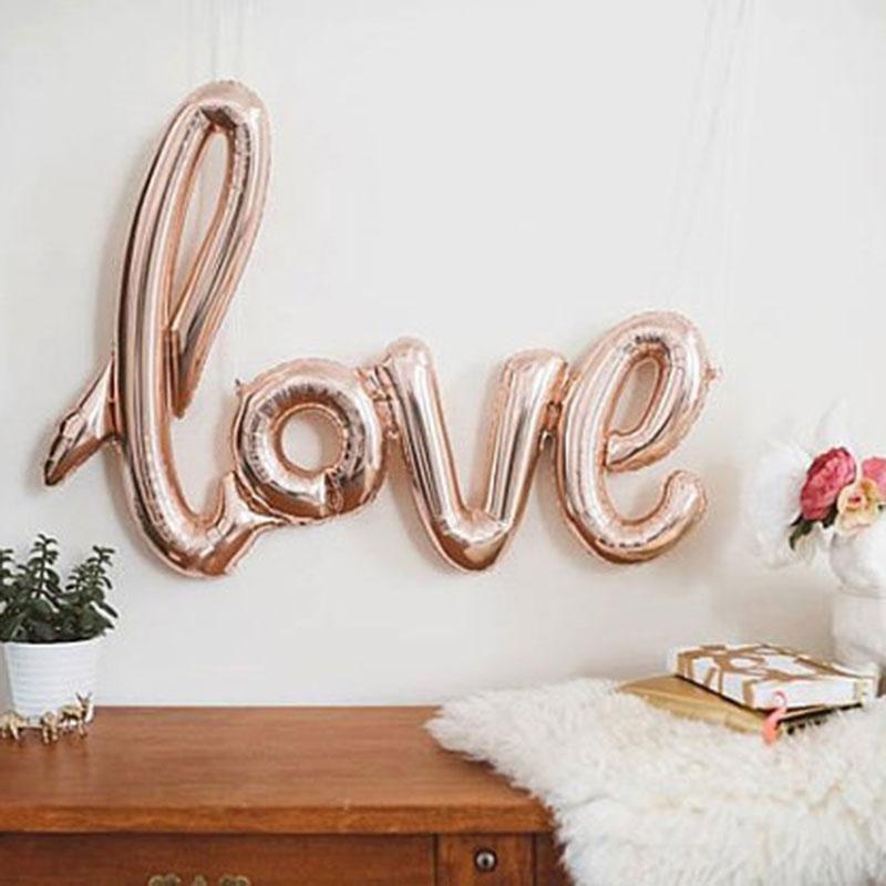 1 sztuk Big Letter syjamskie foliowe z motywem miłosnym balony rocznica ślub ozdobny balon walentynki zaopatrzenie firm