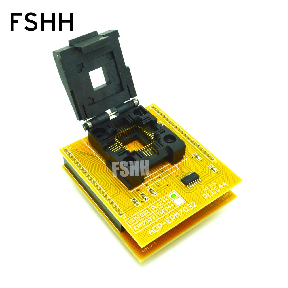 TEST Detect ADP-EPM7032 programmer adapter for ALL-11 programmer PLCC44 to DIP40 socket ADP-EPM7032 adapter best price carprog full v4 1 21 adapter programmer with all softwares radios odometers dashboards immobilizers