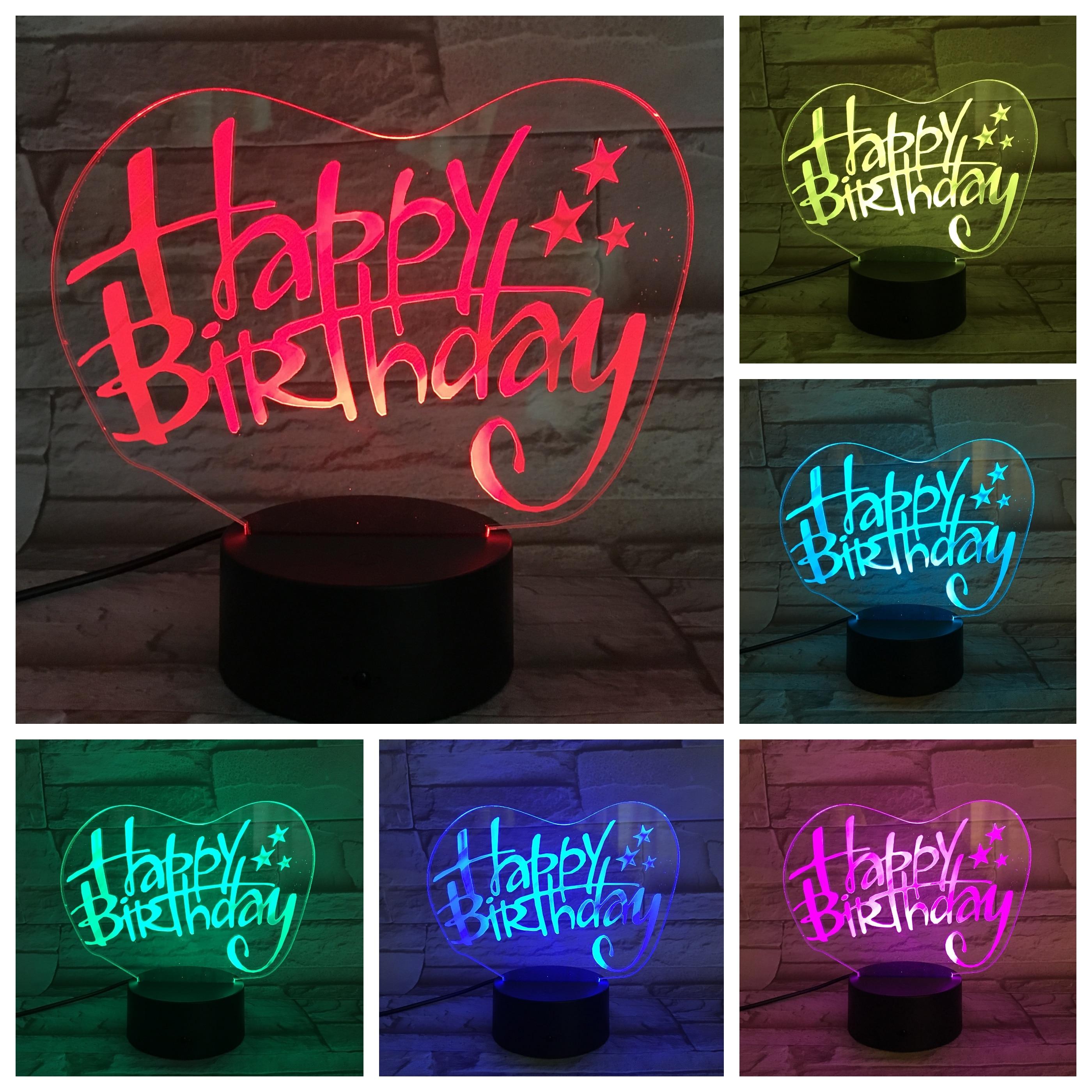 Birthday Gifts 3D LED Lamp bedside decorative lights gece lambasi RGB Boy Child Kids Baby Gift USB 3D LED Night Light Neon
