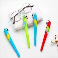 3pcs cute parrots gel pen color birds 0 5mm ballpoint blue pens brazil celebration stationery gift office school supplies a6217