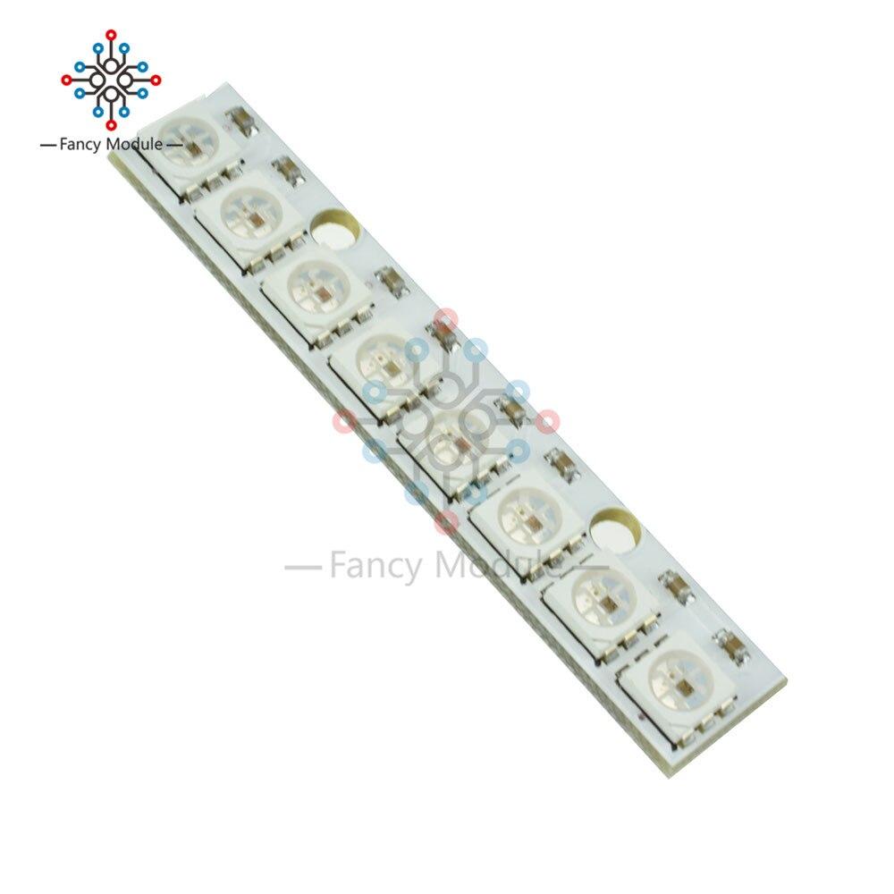 WS2812 WS2812B WS 2811 LED 5050 RGB Panel de la lámpara Módulo 5V 8-poco arco iris LED precisa