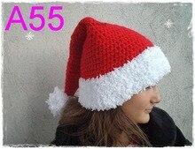 60 teile/los Baby Junge Santa Hut, Baby Mädchen Santa Hut, Baby Junge Weihnachten Hut, baby Hut Weihnachten Roten Urlaub Beanie kostenloser versand