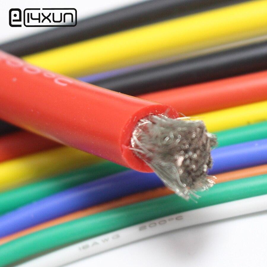 EClyxun 4 6 7 8 10 11 12 13 14 15 16 17 18 20 22 24 26 28 30 AWG силиконовый провод ультра гибкий Тестовый Кабель высокой температуры
