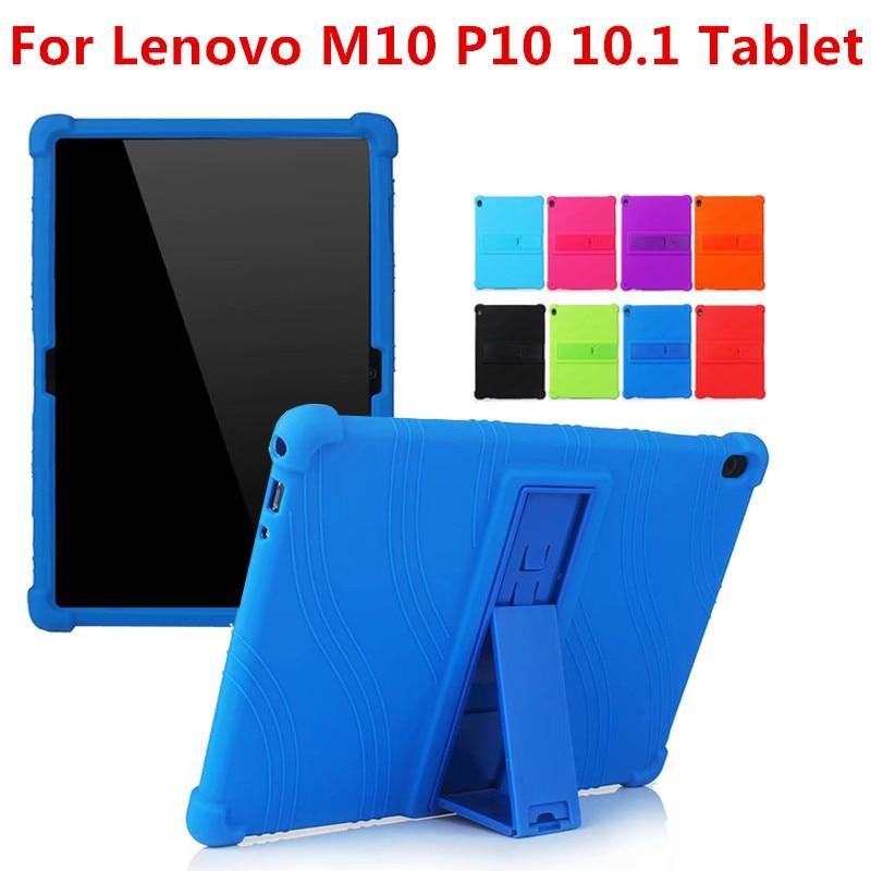 SiliconCase for lenovo tab M10 TB-X605F TB-X605L 10.1 Cover Case for Lenovo Tab P10 TB-X705L TB-X705F 10.1 Tablet Funda Case