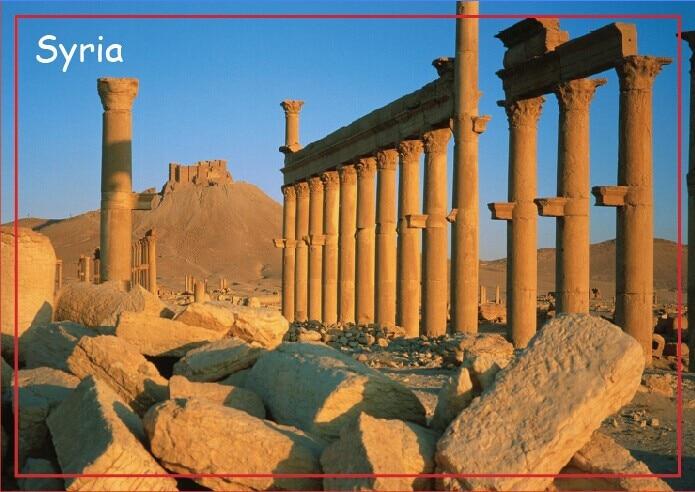 Магниты на холодильник, старый греко-римский город Пальмира на восходе солнца, Сирия, прямоугольный туристический, жесткий магнит на холоди...
