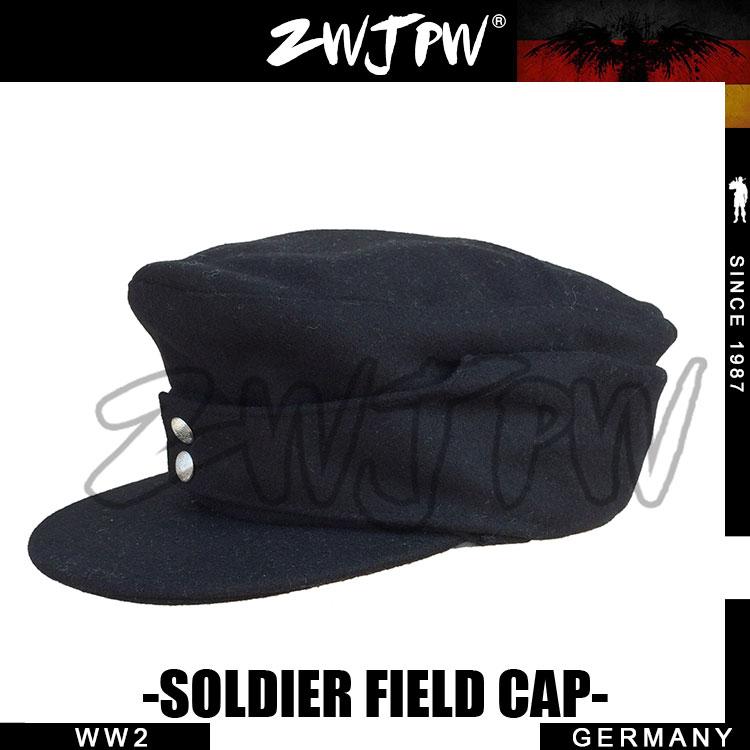 WW2 ARMY WH SS ELITE TYPE1943 BLACK WOOLEN CLOTH SOLDIER FIELD CAP HAT DE/401105
