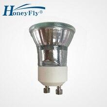 HoneyFly 3 pièces Dimmable Gu10 lampe halogène 35 W + C (35mm) 230 V Mini ampoule halogène 3000 K halogène Lamba Spot lumière GU10 35mm Halojen