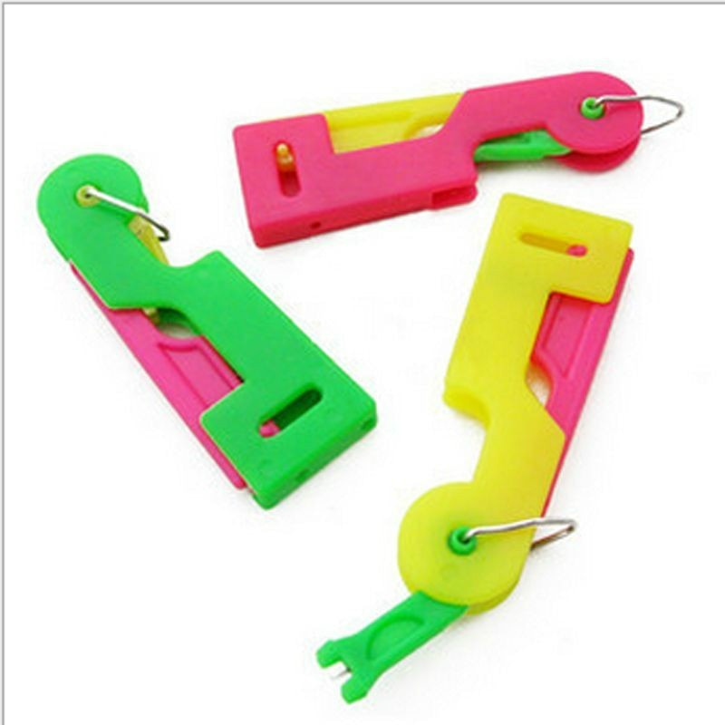 10 Uds 5 uds 3 uds ancianos automático de costura fácil dispositivo para aguja enhebrador de hilo herramienta de guía