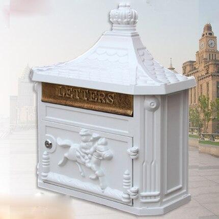 Buzón de correo Retro europeo a prueba de lluvia, creativo correo de cartas, Postbox, Villa, Decoración de casa al aire libre, colgante de pared