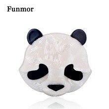 FUNMOR Kawaii fait à la main acrylique chinois Panda Animal Badge broche chandail écharpe boucle broches allié accessoires vestimentaires