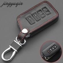 Jingyuqin Leder 4 Taste Remote Key Fall Kette Für Lexus NX 200 NX300H RX 350 450H ES 350 ES 300h Auto Schlüssel Abdeckung Fob Halter