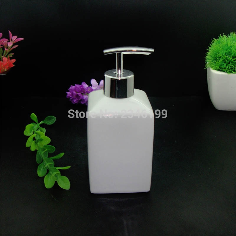 430 ml 2 pcs Branco Cerâmica Dispensador de Sabão Emulsão Garrafa Bomba de Loção Recipiente de Desinfecção Da Água Acessórios Do Banheiro Do Hotel