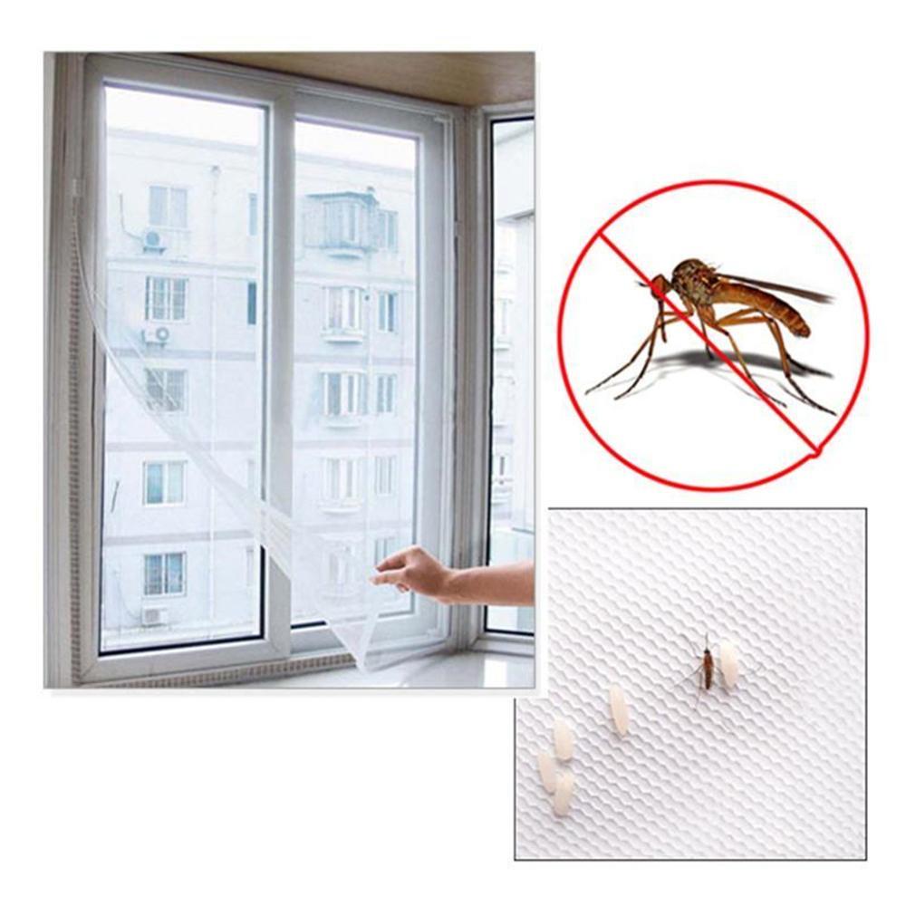 DIY removible Anti Mosquito ventana red de malla cortinas red cortina Protector Fly pantalla Inset Bug lavable ventana pantalla