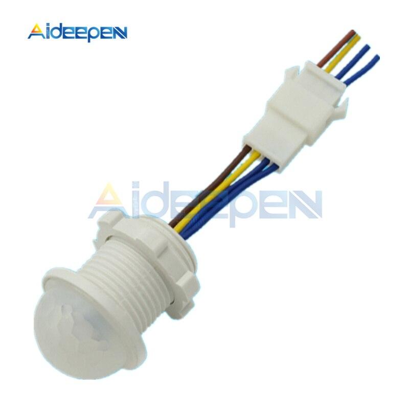 AC 220V 100W infrarrojo PIR sonda LED con detección de movimiento Interruptor de Inducción infrarrojo interruptor de controlador de lámpara de luz LED automático