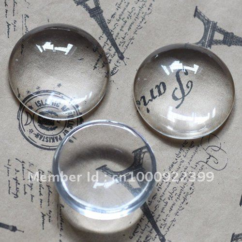 Free Shipping - 20mm Clear Glass Domes Cabochon Cameo Cover Cabs for Circle Jewelry Diy Findings Settings Wholesale