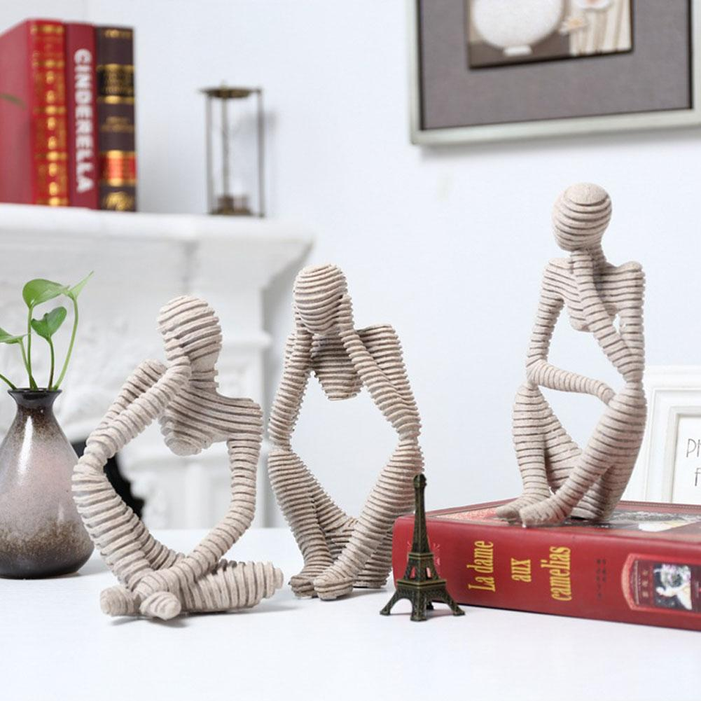 Смола европейский стиль абстрактный мыслитель статуя скульптура помятая фигурка домашний декор Мода