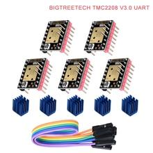 BIQU BIGTREETECH TMC2208 V3.0 UART MKS محرك متدرج StepStick كتم سائق Vs TMC2100 ل ثلاثية الأبعاد لوحة التحكم للطابعة SKR برو/V1.3