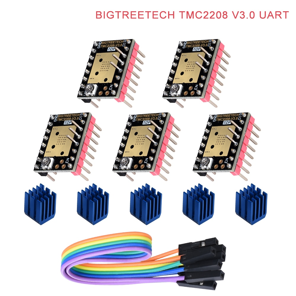 BIQU BIGTREETECH TMC2208 V3.0 UART MKS Stepper Motor StepStick Mute Driver Vs TMC2100 For 3d Printer Control Board SKR PRO /V1.3