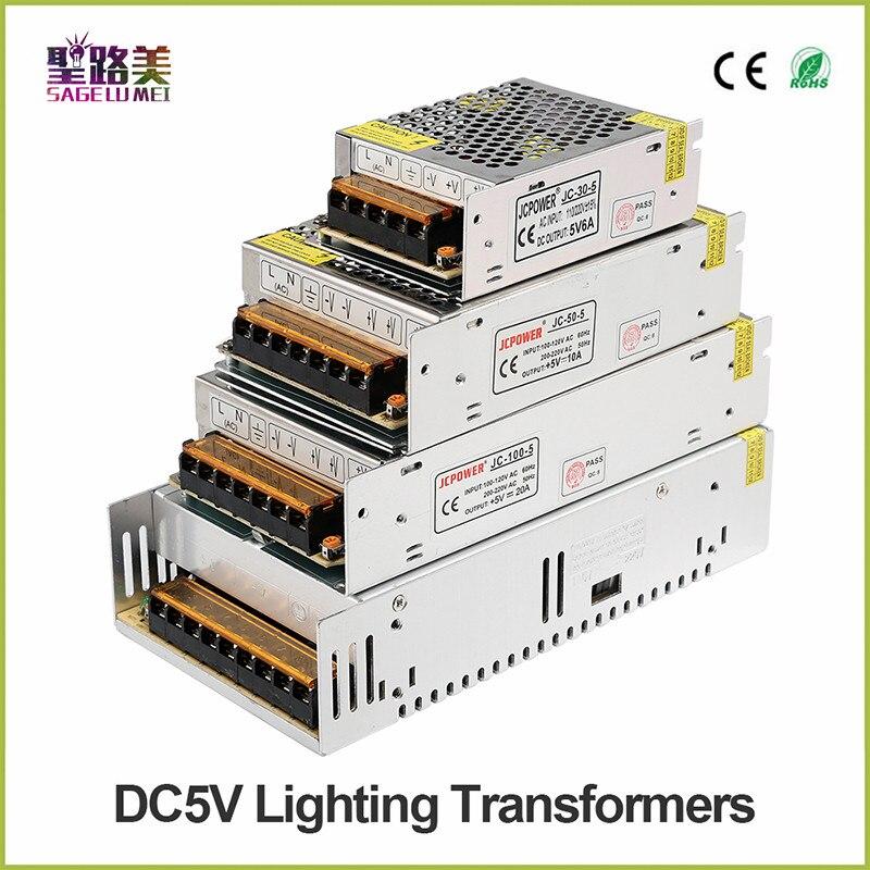 AC110V 220V à 12V 5V 24V 36V 48V 1A 3A 5A 6A 10A 15A 20A 30A 40A 50A 60A affichage led Transformateur Chargeur DC ALIMENTATION LED Dapprovisionnement