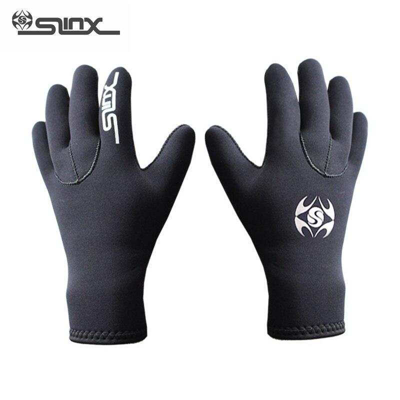 SLINX 3 мм Неопреновые теплые перчатки для дайвинга для мужчин и женщин, мужские перчатки для подводной охоты, виндсерфинга, серфинга, катания на лодках, перчатки против царапин